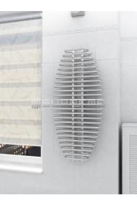600x1300 mm Design Badheizkörper Chrom