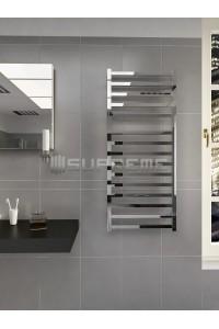 500x1165 mm Design Badheizkörper Chrom mit Vierkantrohre