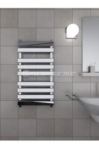 500x900 mm Design Badheizkörper Chrom mit rechteckige Rohre