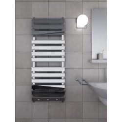 500x1300 mm Design Badheizkörper Chrom mit rechteckige Rohre