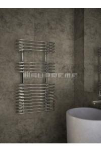500x900 mm Design Badheizkörper Chrom mit kreisförmigen Röhren