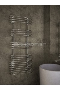 500x1200 mm Design Badheizkörper Chrom mit kreisförmigen Röhren