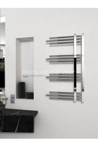 500x900 mm Design Badheizkörper Chrom mit Rundrohre