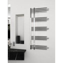 500x1200 mm Design Badheizkörper Chrom mit Rundrohre
