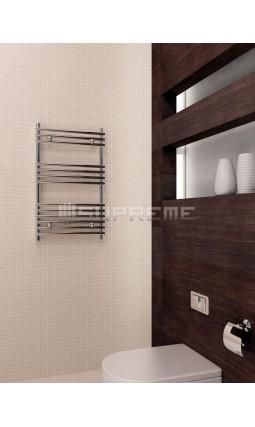 500x800 mm Design Badheizkörper Chrom Rohr auf Rohr
