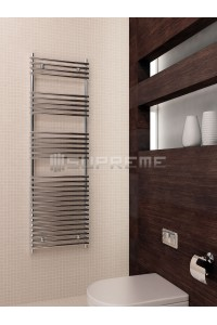 500x1600 mm Design Badheizkörper Chrom Rohr auf Rohr