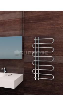 500x1000 mm Design Badheizkörper Chrom mit Einzelrohr