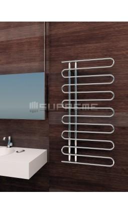 600x1200 mm Design Badheizkörper Chrom mit Einzelrohr
