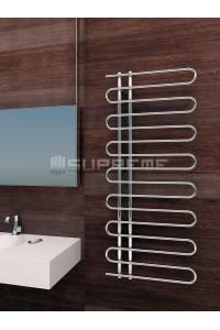 600x1400 mm Design Badheizkörper Chrom mit Einzelrohr
