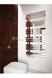 600x1400 mm Design Badheizkörper Spiegeleffekt Chrom