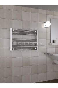 800x600 mm Mittelanschluss Chrom Badheizkörper