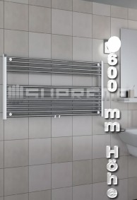 600 mm Höhe Badheizkörper