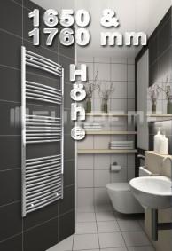 1650 & 1760 mm Höhe Badheizkörper