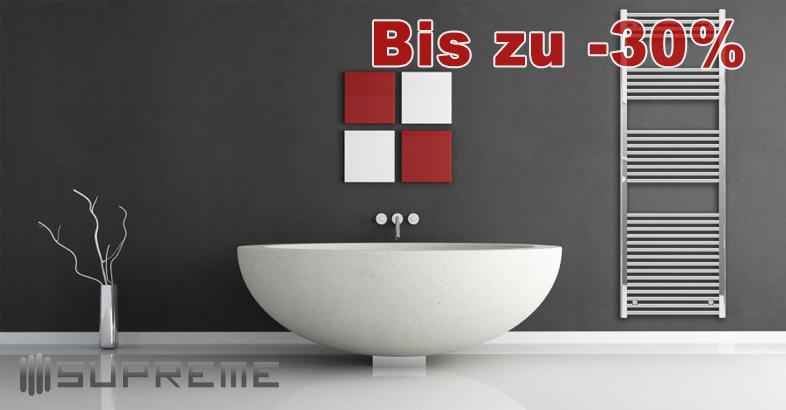 Vervollständigen Sie Ihr Bad mit einem stilvollen Handtuchtrockner. Bis zu 40% Rabatt auf Supreme Badheizkörper aus rostfreiem Stahl für elektrischen Gebrauch oder für Anschluss an die Zentralheizung