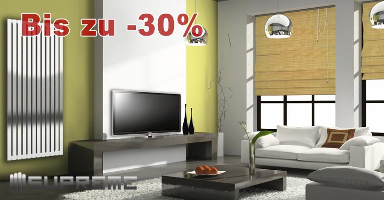 Mit Supreme Designer Heizkörpern für alle Wohnräume sparen Sie bis zu 55%